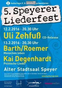 Plakat zum 5. Speyerer Liederfest