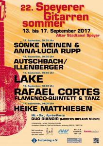 Plakat vom 22. Festival Speyerer Gitarrensommer 2017